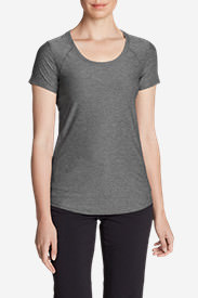 Women's Infinity Scoop-Neck Short-Sleeve T-Shirt in Gray