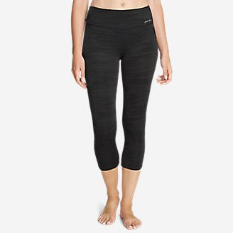 Women's Movement Capris - Jacquard in Black