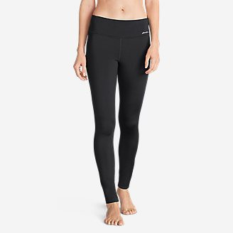 Women's Crossover Fleece Leggings - Solid in Gray
