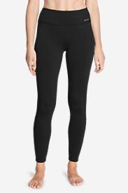 Women's Crossover Fleece Leggings - Colorblock in Black