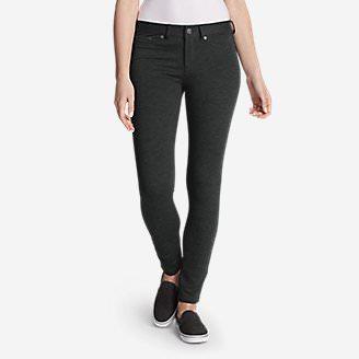 Women's Passenger Ponte 5-Pocket Pants in Gray