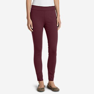 Women's Passenger Ponte Skinny Leg Pants in Red