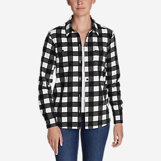Women's Chutes Fleece Shirt Jacket - Print in Black