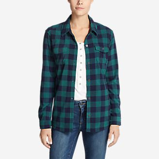 Women's Chutes Fleece Shirt Jacket - Print in Blue