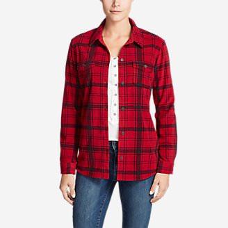 Women's Chutes Fleece Shirt Jacket - Print in Red
