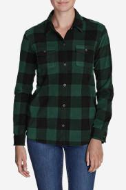 Women's Chutes Fleece Shirt Jacket - Print in Green