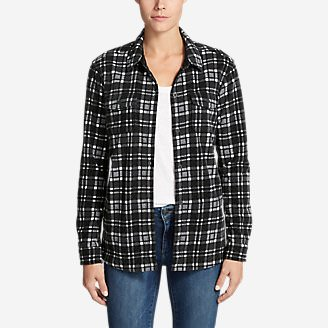 Women's Chutes Fleece Shirt Jacket - Print in Gray