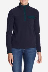 Women's Quest Fleece Snap-Neck Pullover in Blue