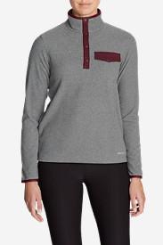 Women's Quest Fleece Snap-Neck Pullover in Gray