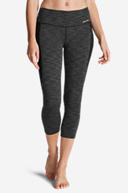 Women's Movement Blocked Capris - 2D Heather in Gray