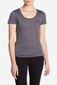 Women's Mercer Knit T-Shirt - Stripe in Purple