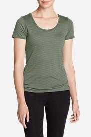 Women's Mercer Knit T-Shirt - Stripe in Green