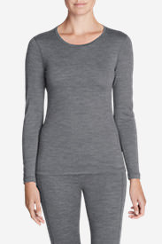 Women's Lightweight FreeDry Merino Hybrid Baselayer Long-Sleeve Crew in Gray