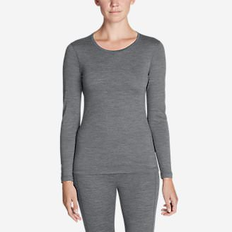 Women's Midweight FreeDry Merino Hybrid Baselayer Long-Sleeve Crew in Gray