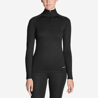 Women's Heavyweight FreeDry Merino Hybrid Baselayer 1/4-Zip in Black