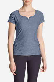 Women's Infinity Ruched T-Shirt in Blue