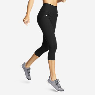 Women's Trail Tight Capris - High Rise in Gray