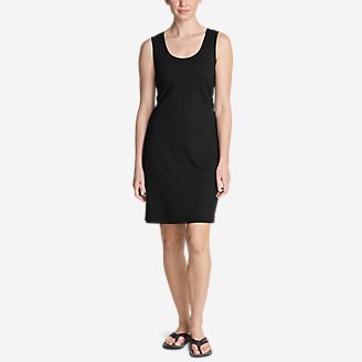 Women's Aster Slit-Back Dress - Solid in Black