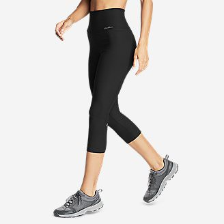 Women's Movement High Rise Capris in Black