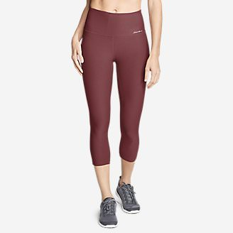 Women's Movement High Rise Capris in Red