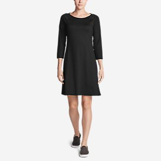 Women's Aster 3/4-Sleeve Dress in Black