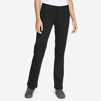 Women's Passenger Ponte Baby Boot Pants in Black
