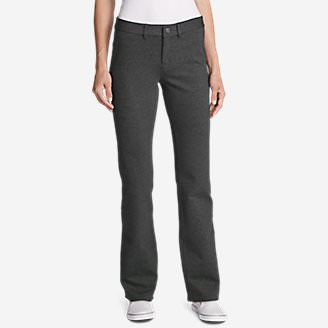Women's Passenger Ponte Baby Boot Pants in Gray