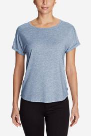Women's Mercer Knit Roll-Sleeve Bateau T-Shirt - Solid in Blue