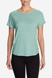 Women's Mercer Knit Roll-Sleeve Bateau T-Shirt - Solid in Green