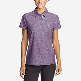 Women's Infinity Pro Short-Sleeve Polo Shirt in Purple