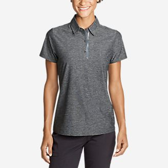 Women's Infinity Pro Short-Sleeve Polo Shirt in Gray