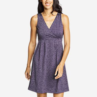 Women's Aster Crossover Dress - Print in Purple