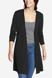 Women's Daisy Long Wrap in Black