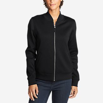 Women's Radiator Fleece Bomber Jacket in Black