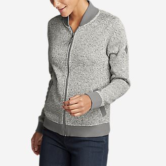 Women's Radiator Fleece Bomber Jacket in Gray