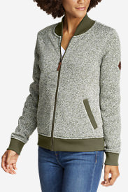 Women's Radiator Fleece Bomber Jacket in Green
