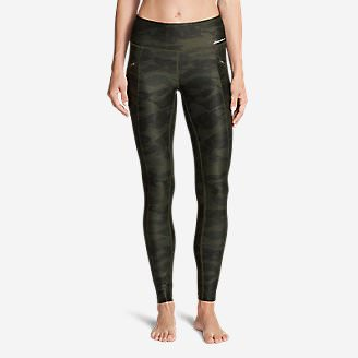 Women's Trail Tight Leggings - Printed in Green