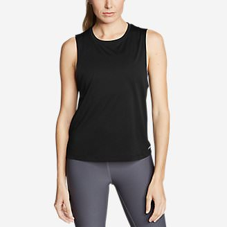Women's Resolution Muscle Tank Top in Black