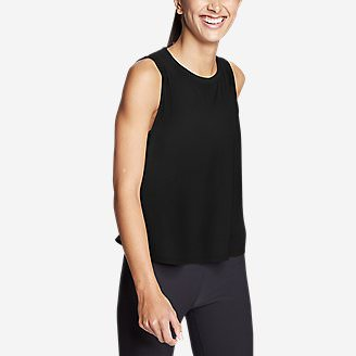 Women's Infinity Split-Back Tank Top in Black