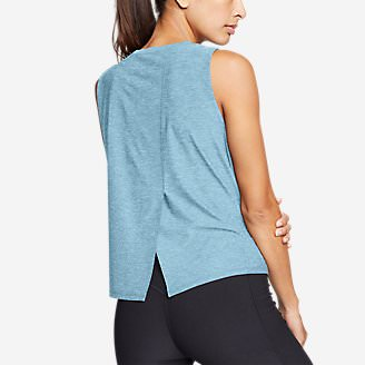 Women's Infinity Split-Back Tank Top in Blue