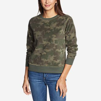 Women's Quest Fleece Sweatshirt - Print in Green