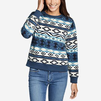 Women's Quest Fleece Sweatshirt - Print in Blue