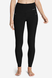 Women's Crossover Trail Tight Leggings - High Rise in Black