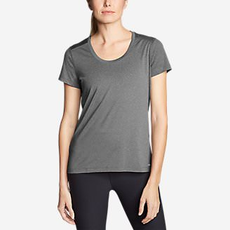 Women's TrailCool Scoop-Neck T-Shirt in Gray