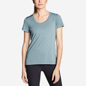 Women's TrailCool Scoop-Neck T-Shirt in Blue