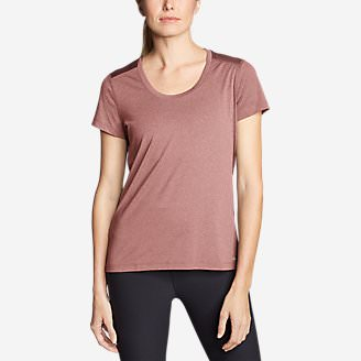 Women's TrailCool Scoop-Neck T-Shirt in Red