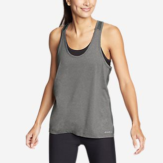Women's TrailCool Racerback Tank Top in Gray