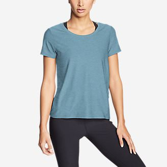 Women's Infinity Scoop-Neck T-Shirt w/Pocket in Blue