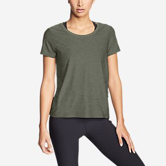 Women's Infinity Scoop-Neck T-Shirt w/Pocket in Green