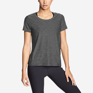 Women's Infinity Scoop-Neck T-Shirt w/Pocket in Gray